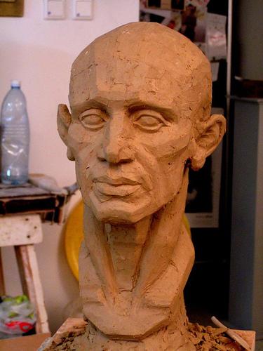sculpture-head-cotswold-art-academy-2015
